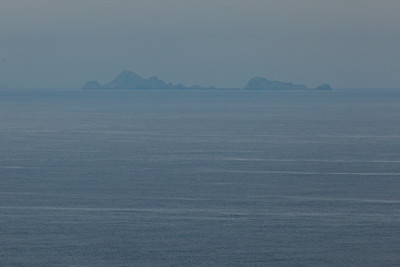 The Farallone Islands as seen from Point Reyes.