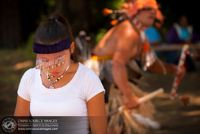 Coastal Miwok, Native American Big Time Festival in Point Reyes, CA. July 20, 2013.
