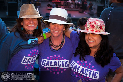 Super-Happy Concert Goers with Matching Galactic T-Shirts!