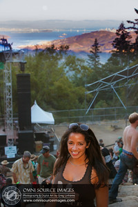 Full Moon rises over the East Bay and this very happy concert goer at the conclusion of Galactic's set.