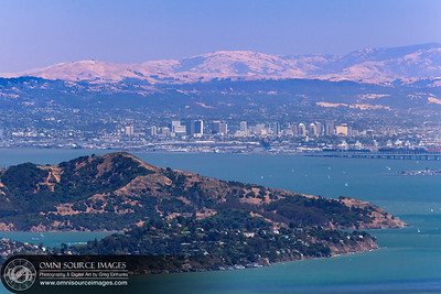 Tiburon, Angel Island and Downtown Oakland  as seen from the Mount Tamalpias Amphitheater. Saturday, June 22, 2013.