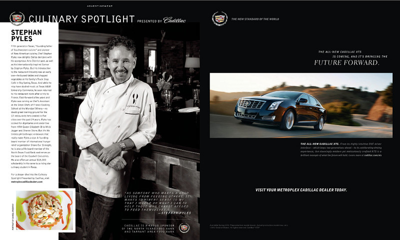 Stephan Pyles for Cadillac Culinary Spotlight featured in June 2012 issue of Modern Luxury Dallas