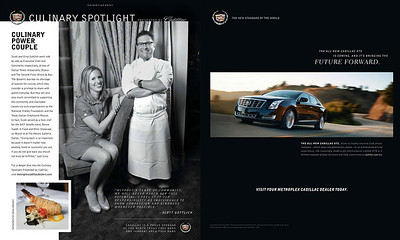 Scott and Gina Gottlich for Cadillac Culinary Spotlight featured in April 2012 issue of Modern Luxury Dallas