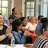 Audience at Hijos de Borinquen beauty pageant, part of the Lowell Puerto Rican Festival. (SUN/Julia Malakie)