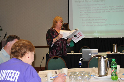 Michelle explaining toolkit