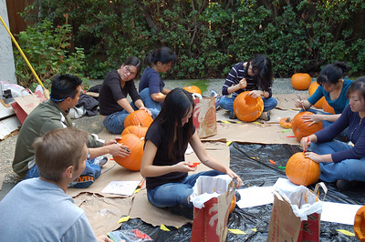 Pumpkin Carving at Karen/Jenie's 2007.10.27