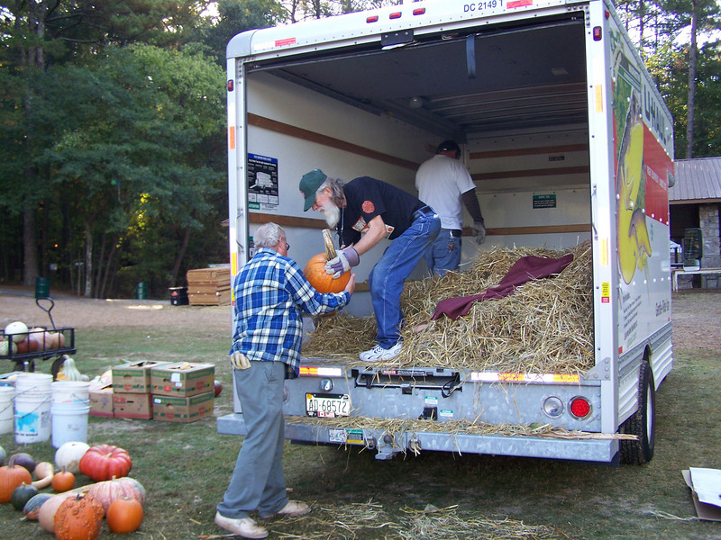 Currie helps with the unloading.