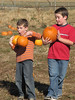 Lucas and Landon, hamming it up.<br /> October 28, 2006