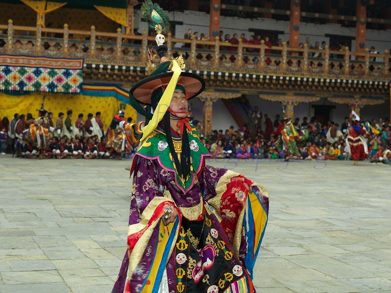 Bhutan Tsetchu day 1<br /> close up of a StarDancer for the Tsetchu