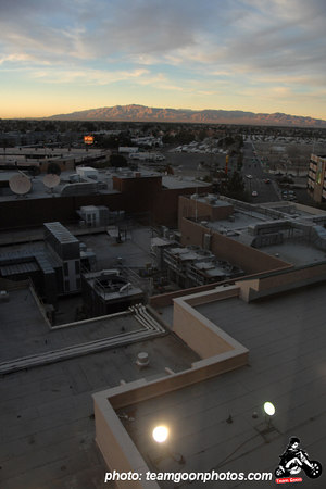 View from the room, nice roof fans - Punk Rock Bowling 2007 - Presented by Better Youth Organization (BYO Records) - Las Vegas, NV - January 2007 - Photo