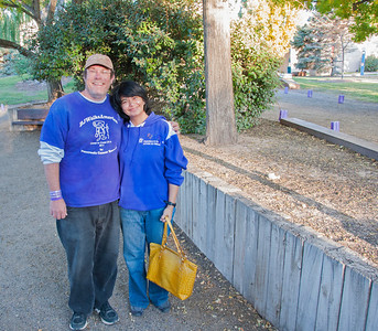 With BJ, who walked across the US to create awareness about pancreatic cancer.....