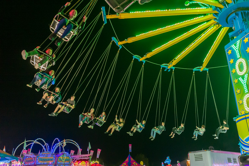 The 2019 Putnam County Fair opened on Friday night and every amusement ride had throngs of folks waiting to be thrilled and chilled. Fran Ruchalski/Palatka Daily News