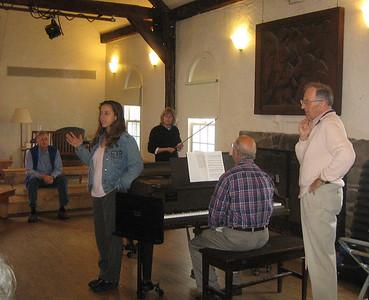 Saturday morning choral singing and orchestra