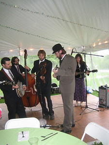 Bluegrass band accompanying our dinner Friday night.