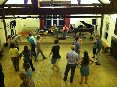 Contra dancing and squares followed after Sing.
