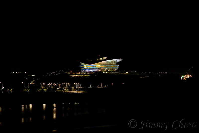 PICC (Putrajaya International Conference Centre) before lights out. Note the ferris wheel on far right.