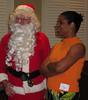 Santa chats with Jan Mulvany.