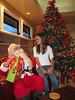 Rob & Lesley Woodward's granddaughter, Thea, visits with Santa.