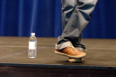 Idan's feet during a Q&A