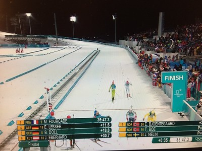 Martin Fourcade grabs Olympic biathlon gold in incredible photo finish – video  https://www.theguardian.com/sport/video/2018/feb/18/martin-fourcade-grabs-olympic-biathlon-gold-in-incredible-photo-finish-video  Martin Fourcade makes Olympic biathlon history with pursuit gold https://www.nbcolympics.com/news/martin-fourcade-makes-olympic-biathlon-history-pursuit-gold   Martin FOURCADE Wins Gold Medal on Biathlon Men's ... - YouTube https://www.youtube.com/watch?v=zzwzpS97bT4