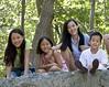 Children enjoying themselves on the Tripod Rock