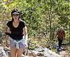 Going to Tripod Rock via a steep rock climb