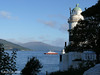 Cloch Lighthouse with Western Ferries'  SOUND OF SCALPAY.