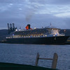 QM2 berthed at Ocean Terminal.