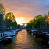 Queens Day Sunset <br /> Amsterdam 2008<br /> <br /> The sun put on a special show for the Dutch on their National Holiday