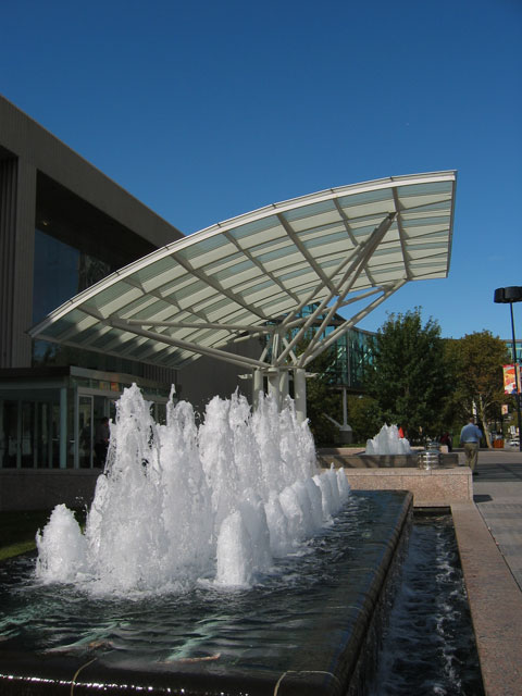 The entrance to Crown Center.