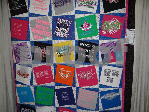 T-shirt quilt by Karen Hauswirth and Teresa Proctor.