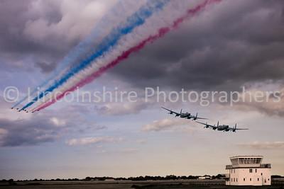 RAF Strubby Lancaster Flyover