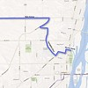 A map of the RAGBRAI route into Clinton. • Submitted photo