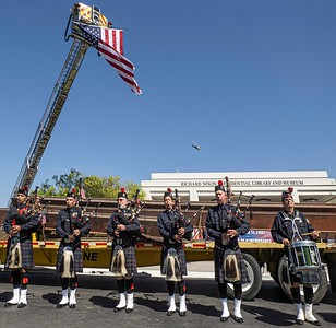 Bagpipes pay homage to the fallen