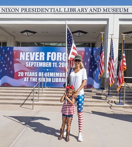 Mom and daughter: patriots