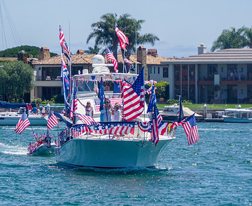 All decked out in flags to celebrate July 4th and freedom
