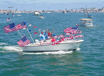 Flags on a perfect day in the harbor. Joy
