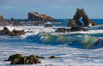 Wave action around Window Rock