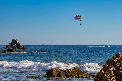 Parasailing off Little Corona Beach