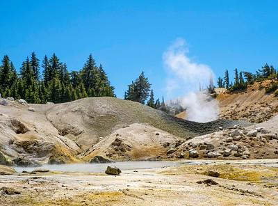 No geysers, just smelly steam.