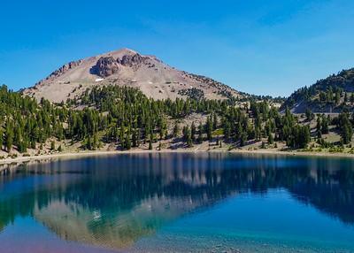 Helen Lake in Mt Lassen Volcanic National Park