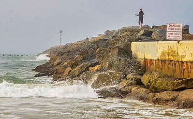 The Jetty was closed...neither surfers nor fishermen cared.