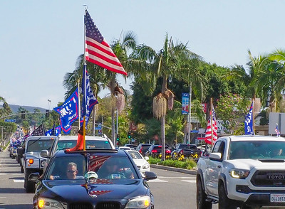 The rally went from Newport Beach to Laguna Beach....these people were returning from Laguna.
