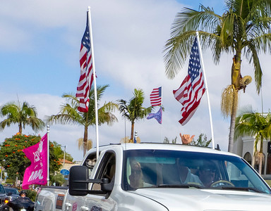 All carried flags supporting the President and the USA