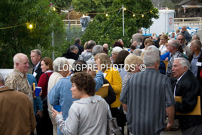 CROWD on Friday evening at LECK HOUSE.