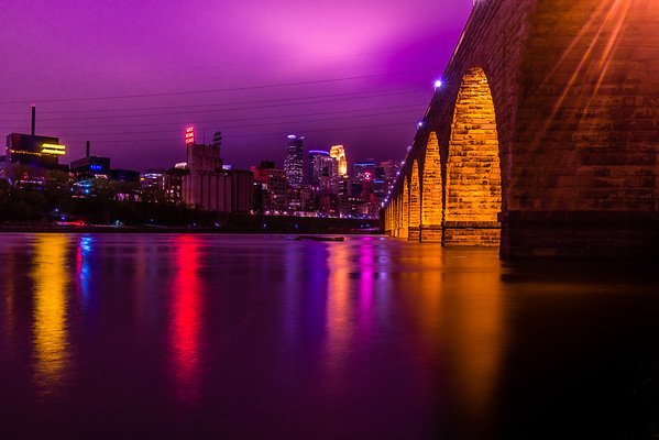 Shining Down on Purple Town