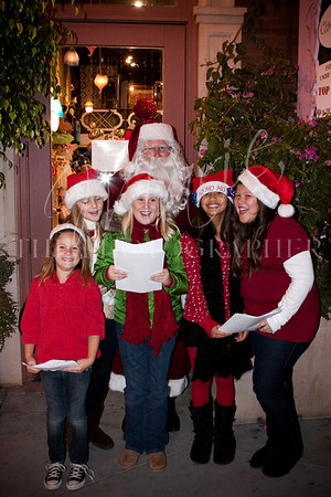 RISING STARS christmas carolers at VENTURA WINTER WINE WALK