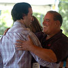 "Victor Vitale, left, of The Cigar Agency, has a hug for actor  Joe Gannascoli, who played ""Vito"" on The Sopranos.<br /> The 1st Annual Rocky Mountain Cigar Festival was held at the Millennium Harvest House gardens on Sunday.<br />  For more photos of the festival, go to  <a href=""http://www.dailycamera.com"">http://www.dailycamera.com</a>.<br /> Cliff Grassmick / August 29, 2010"