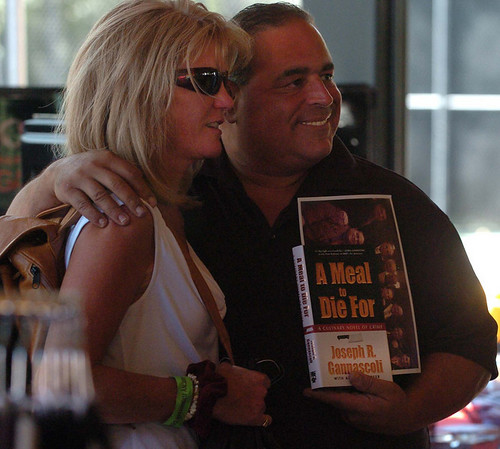 "Karen Cain poses for a photo with actor,  Joe Gannascoli, who played ""Vito"" on The Sopranos.<br /> The 1st Annual Rocky Mountain Cigar Festival was held at the Millennium Harvest House gardens on Sunday.<br />  For more photos of the festival, go to  <a href=""http://www.dailycamera.com"">http://www.dailycamera.com</a>.<br /> Cliff Grassmick / August 29, 2010"