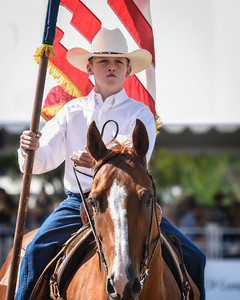 Young Cowboy with Flag
